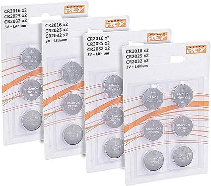 Imagen dePack de 24 Pilas Litio, 8X CR2016, 8X CR2025, 8X CR2032, 3V, Tipo Botón Alcalinas en Blister