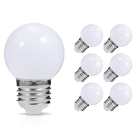 LED Vanity Light Bulb, JandCase G14 Globe Bulb, 1 Watt(10W Equivalent),  Soft White 3000K, Ideal for Bathroom Mirror, Porch, Strip Lights, Ceiling  Fan,