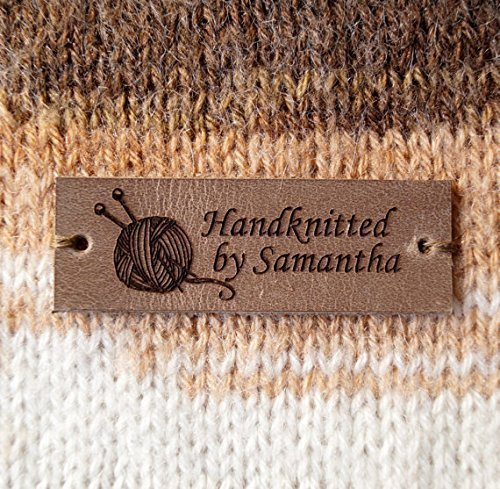 amazon com leather labels for crochet labels for knitting custom
