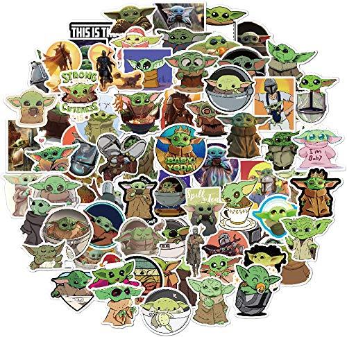 🥇 Stickers Yoda Baby 72 pcs