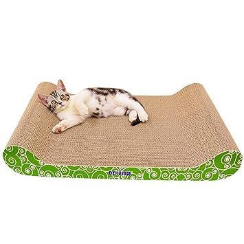 GLMAMK Gato Verde Fresco Que rasguña los Cojines, Juguete de la Garra del Estilo del Hueso de Gato, sofá del Respaldo del Papel Acanalado: Amazon.es: ...