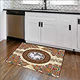 Non-slip Thicken Carpet diamond luxury background Easier to Dry for Bathroom W39'' x H16''