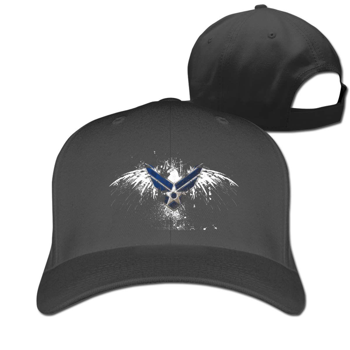 US Air Force Logo Eagle Fashion Adjustable Cotton Baseball Caps Trucker Driver Hat Outdoor Cap Black