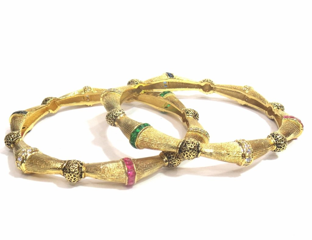 Jewelshingar Jewellery Fine Micro Plated Bangles For Girls ( 32544-m-2.4 )