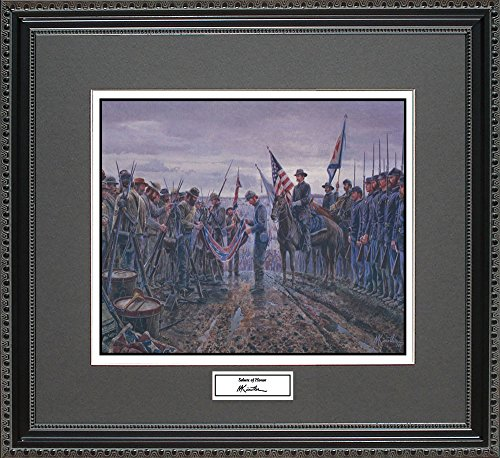 Mort Kunstler SALUTE OF HONOR Framed Wall Art Civil War Print, 18x16