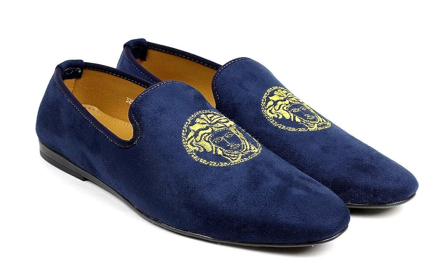 JAS Hombre Azul Marino Sin Cordones Diseño Italiano Mocasines Conducción Zapatos Casual Mocasin: Amazon.es: Zapatos y complementos