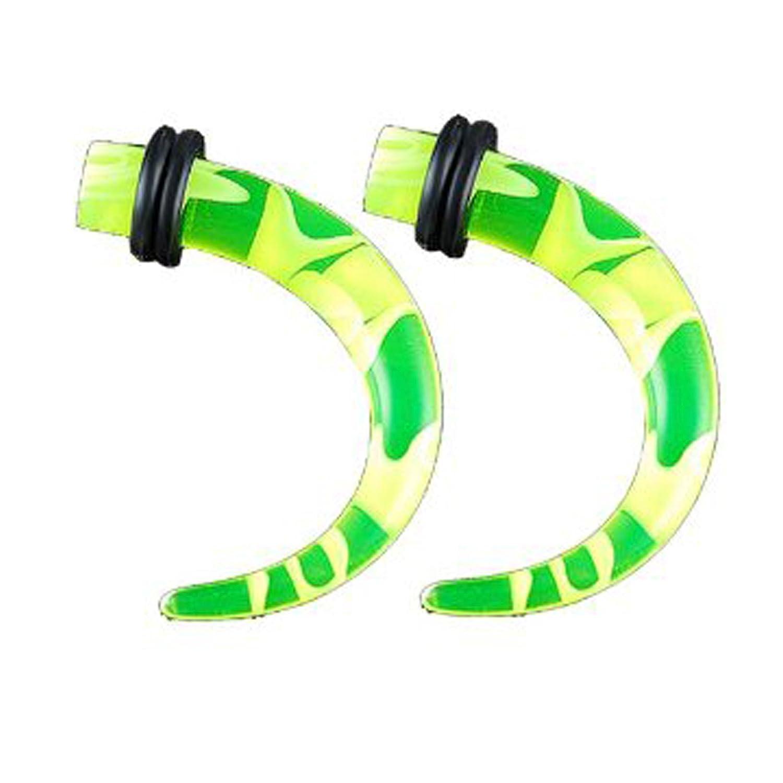 bodyjewellery 4G 4 Gauge 5mm Green Acrylic Ear s Stretching Talon Claw Tapers Plugs AEAH Piercing 2Pcs