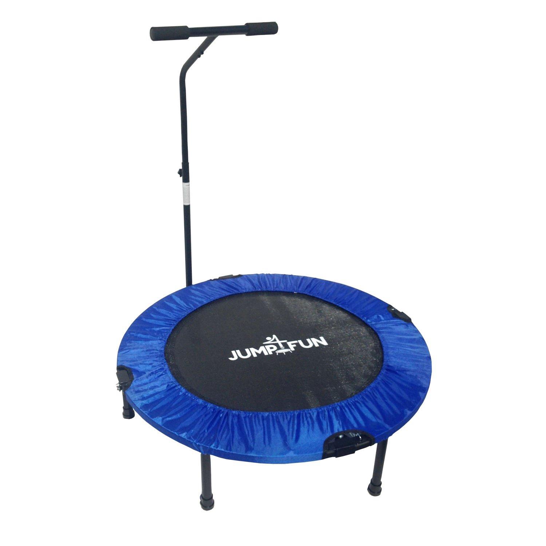 Jump4fun Mini-Trampolin, Fitness-Trampolin, faltbar, mit Haltestange