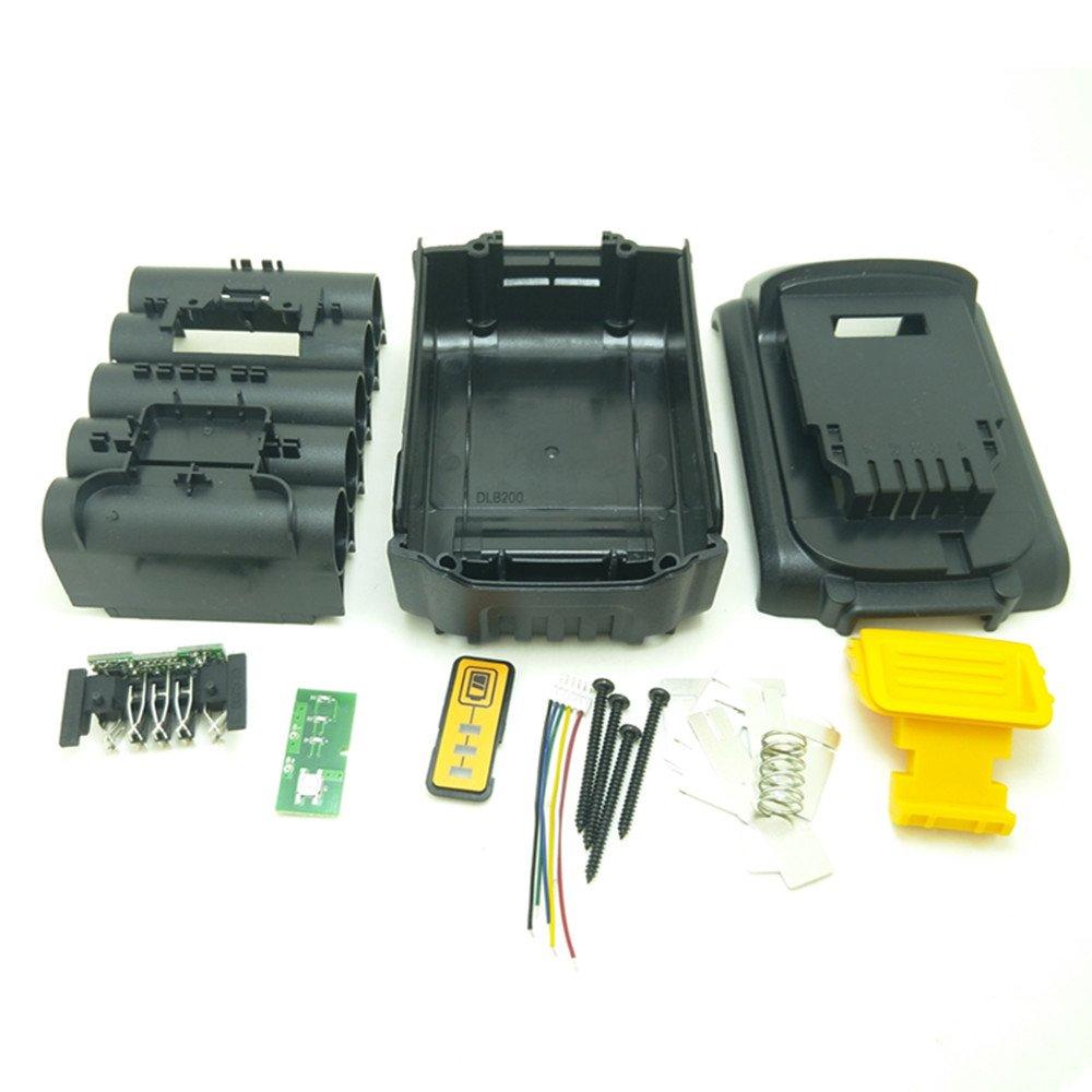 Battery Replacement Plastic Case For DeWalt 20V DCB201,DCB203,DCB204,DCB200 18V Li-ion Battery Cover Parts