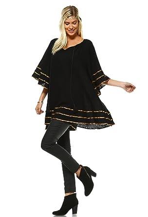 fd7b2d1d1f8 Velzera Women s Kimono Sleeve Swing Tunic Dress Boho Chic Reg   Plus Size  (Small