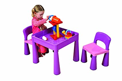 Set un tavolo multi attività con due sedie per bambini bambini