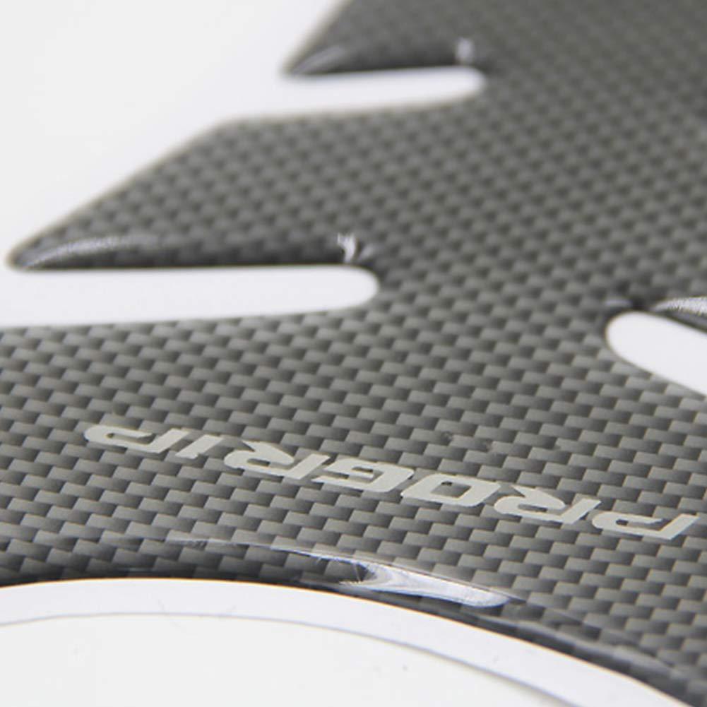 Newin Star Fish Bone Etiqueta de Partes de Motos Negro Protector de Pasta de Carbono Fibra Resina Sint/ética Pegatina del coj/ín del Tanque de Espina de Pescado del Estilo de la Motocicleta Decorac