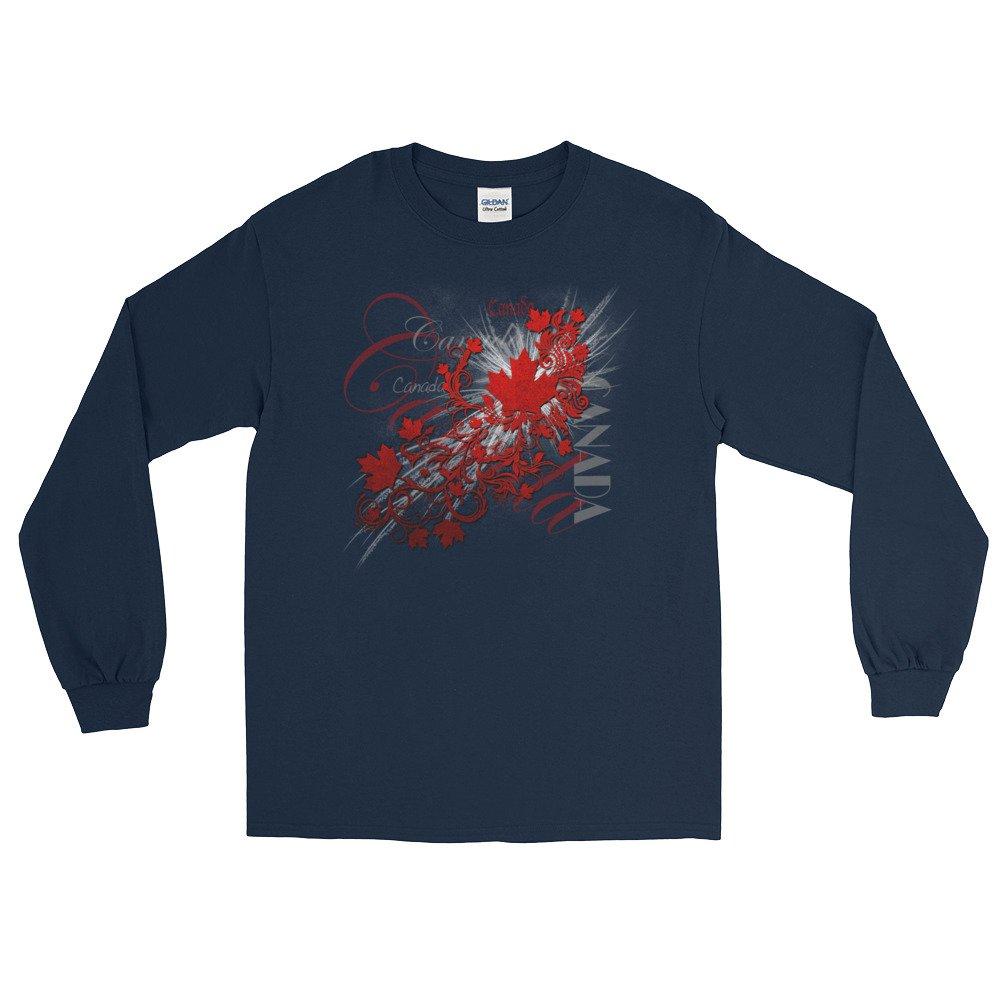 Arkansas made Canada Flourish and Maple Leaf Long Sleeve T-Shirt