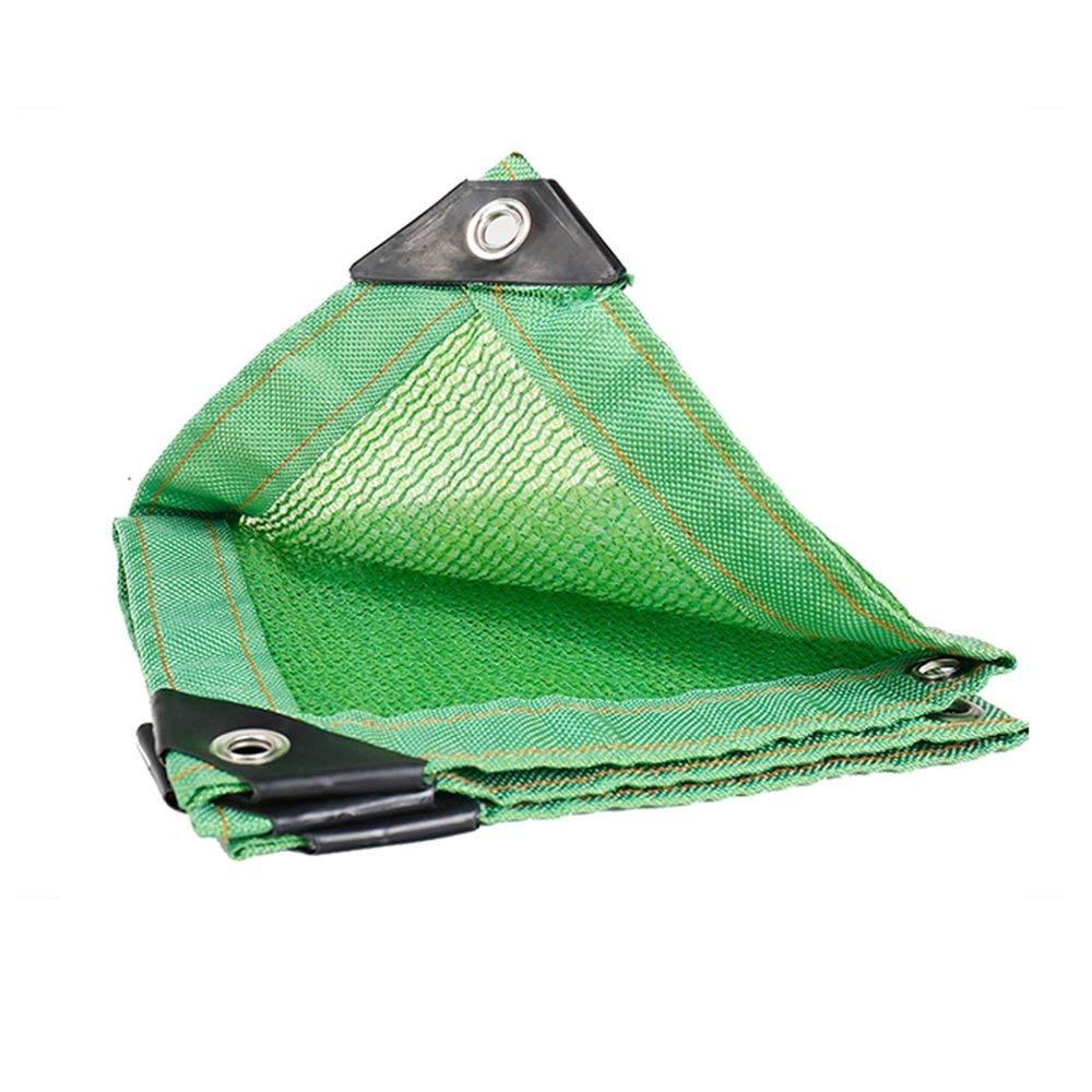 JINSH Regenschutztuch wasserdichtes Sonnenschirmnetz, 6-polige Kantenverschlüsselung Sonnenschutzdämmungsnetz Balkon Gartenarbeit liefert saftiges grünes Schattennetz, grün (Farbe   A, Größe   6x6M)