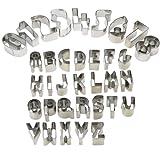 HUAFA Stück teilig Alphabet Ausstecher / Ausstechformen für Fondant - mit Zahlen und Buchstaben - Cake Backzubehör Kuchendekoration Ausstechformen Backform Utensilien Modellierwerkzeug