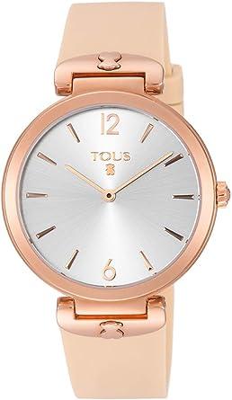 Reloj Tous mujer S Mesh bicolor acero inoxidable IP rosado