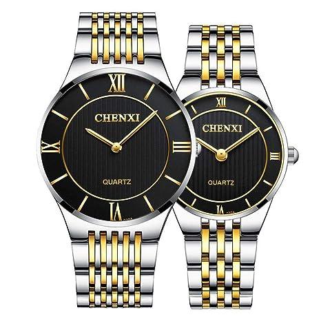 North King Relojes de Cuarzo para Impermeable de los Hombres con Relojes de Pulsera clásico Acero