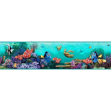 York Wallcoverings Ds7686bd Walt Disney Kids Ii Nemo Under Water