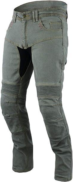 Jet Motorradhose Jeans Kevlar Aramid Mit Protektoren Herren Tech Pro 48 Kurz Weite 32 Länge 30 M Grau Auto
