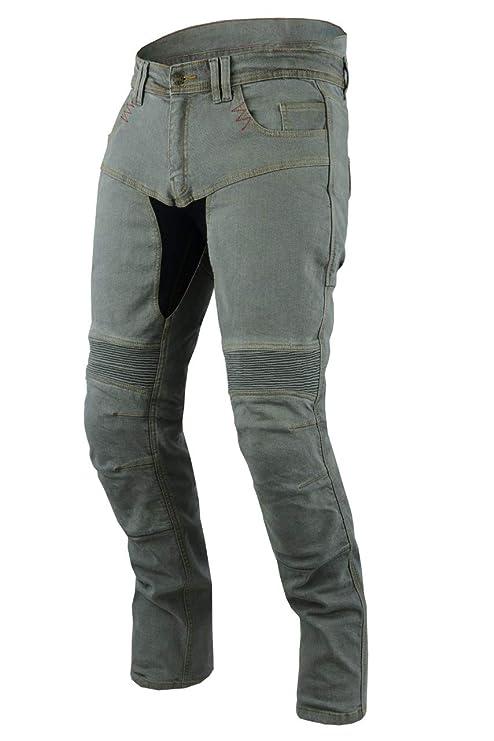 JET Pantalon Moto Hombre Jeans Kevlar Aramid Con Armadura TECH PRO (50 Largo/Cintura 34