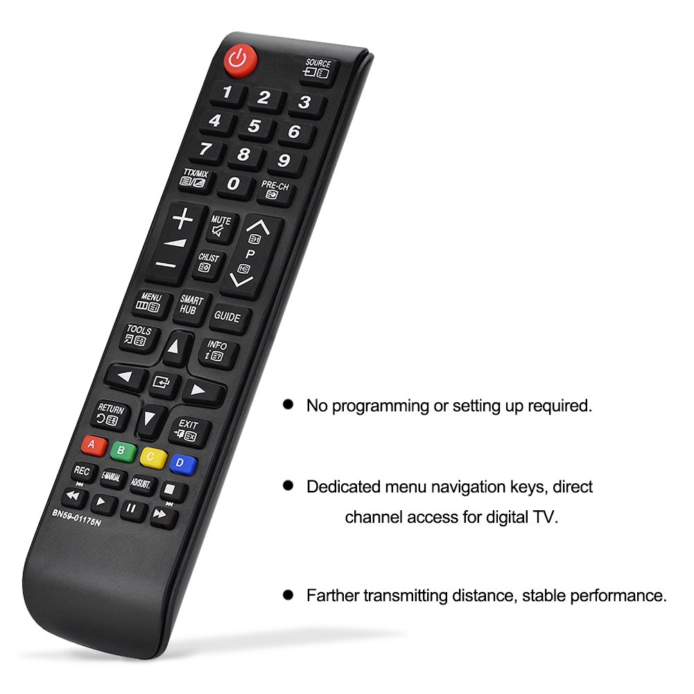 Universal Remote Control BN59-01015A Fit for Samsung Smart LED LCD TV Remote Control Replacement BN59-01175N for Samsung