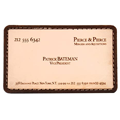 Amazon Patrick Bateman Leather Business Card Morale Patch By
