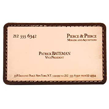 Patrick Bateman Leder Business Card Moral Patch Von Violent Kleine Maschine Shop