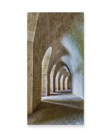 Amazon.com: Lunarable Medieval Wall Art, Castle Tunnel Interior with ...