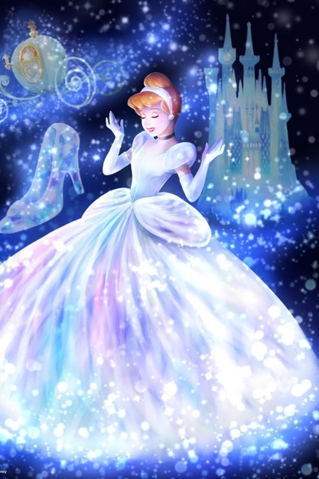 ディズニー 魔法の光に包まれて(シンデレラ)  iPhone(640×960)壁紙画像