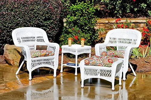 Superb Amazon Com Tortuga Outdoor 4 Piece Chat Set With 2 Wicker Inzonedesignstudio Interior Chair Design Inzonedesignstudiocom