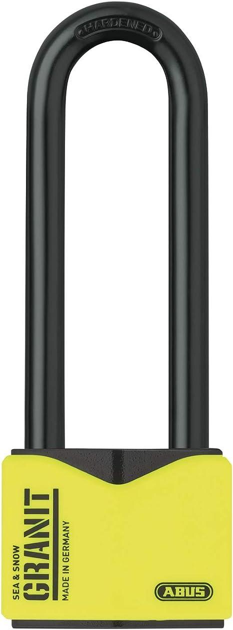 Abus Granit Vorhängeschloss 37 55hb100 Mit Hohem Bügel Aus Gehärtetem Spezialstahl Schlüssel Mit Led Licht Mit Abus Plus Scheibenzylinder 45090 Level 10 Schwarz Gelb Baumarkt