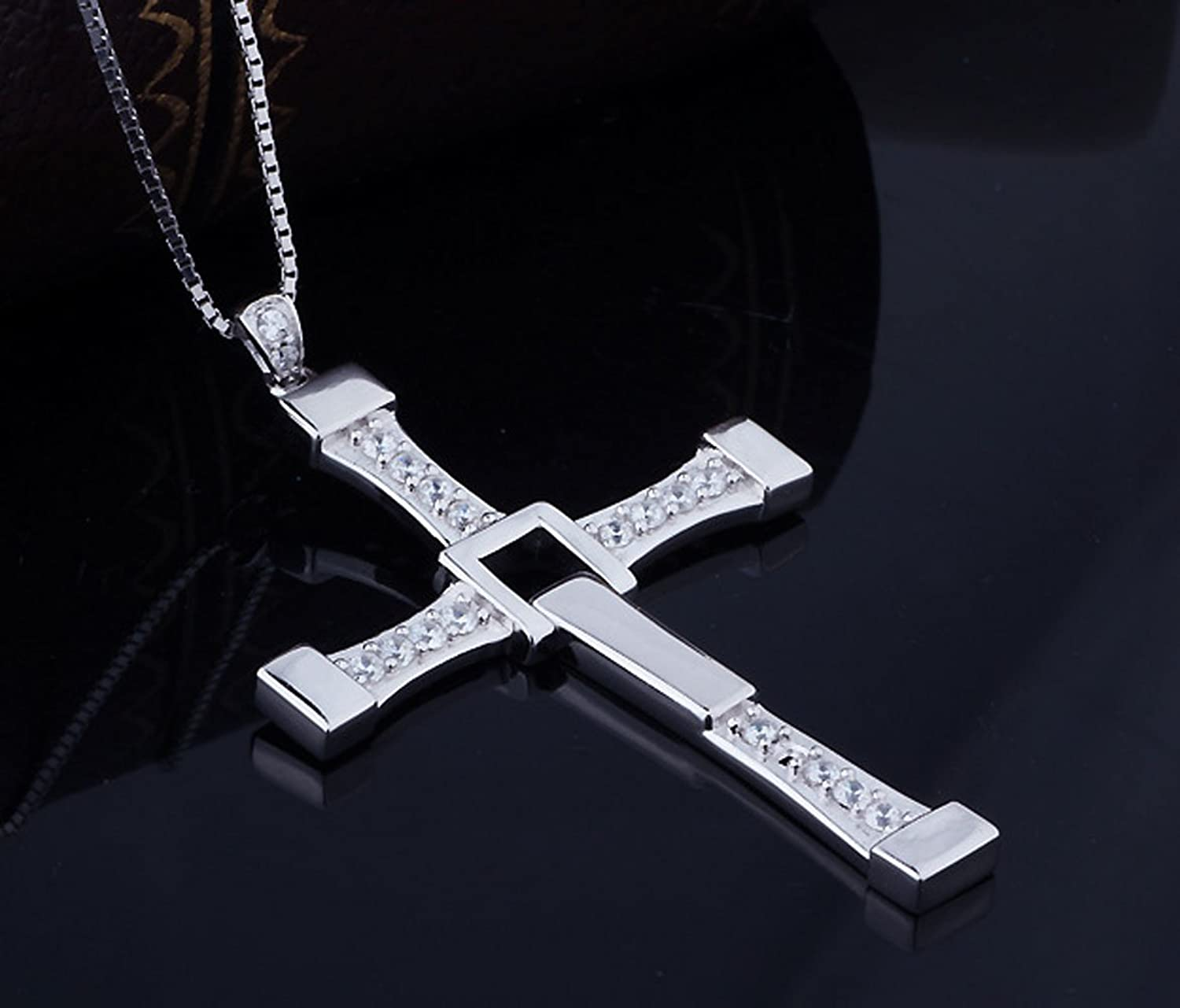 Amazon stainless steel masculine mens religious cross pendant amazon stainless steel masculine mens religious cross pendant necklace with silver chain jewelry buycottarizona Choice Image