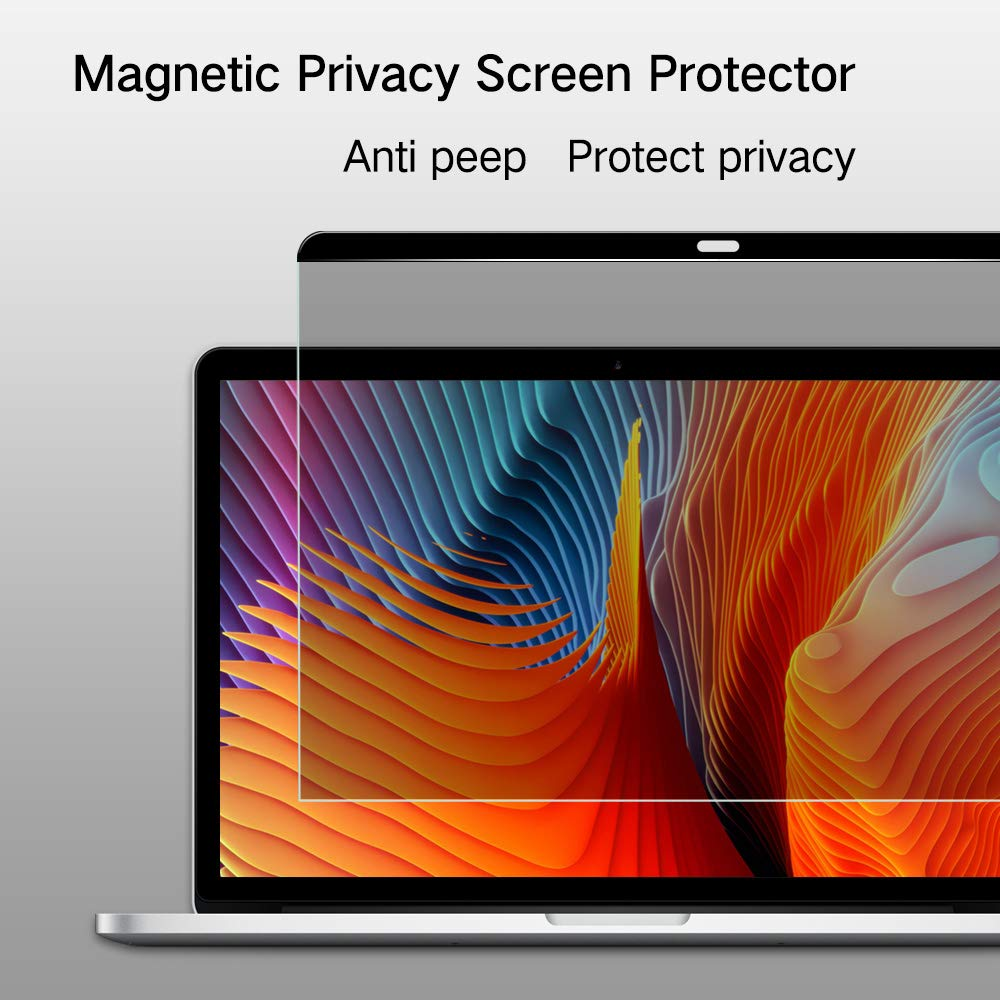 PERFECTSIGHT Magnetic Privacy Screen Protector for MacBook pro 13 inch 2016-2018 (A1706/A1708/A1989), Anti Spy Anti Glare Blue Light Filter Easy On/Off