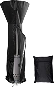 "FYPARF Patio Heater Covers Waterproof with Zipper, 210D Waterproof and Dustproof Garden Heavy Duty Standup Outdoor Heater Cover(89'' H x 33"" D x 19"" B)"