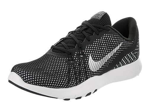 407fd04dffb Nike Women s Flex Trainer 7 Print Black Metallic Silver White Training Shoe  6 Women US  Amazon.in  Shoes   Handbags