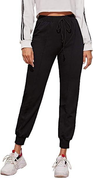 Butrends Damen Sporthose Lang mit Taschen Jogginghose Elastischer Bund Sweathose Trainingshose Freizeithose