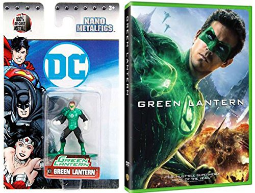 Lantern Ryan Reynolds Suit Green (DC Nano Metalfigs Green Lantern Diecast Mini Figure & Action Comic Movie DVD)