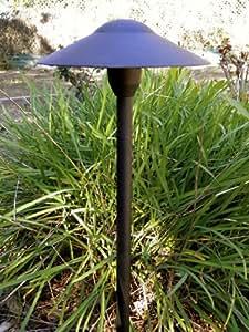 Low Voltage Landscape Mushroom Light in Black Finish