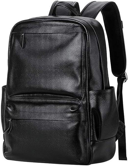 New Stylish Leather Men Shoulder Bag Casual Zipper Student School Bag Backpack
