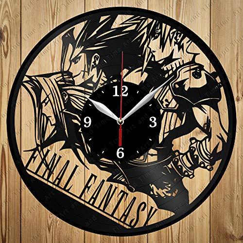 Vinyl Final Fantasy Clock Art Decor Home Wall Clock Black Original Gift Unique Design