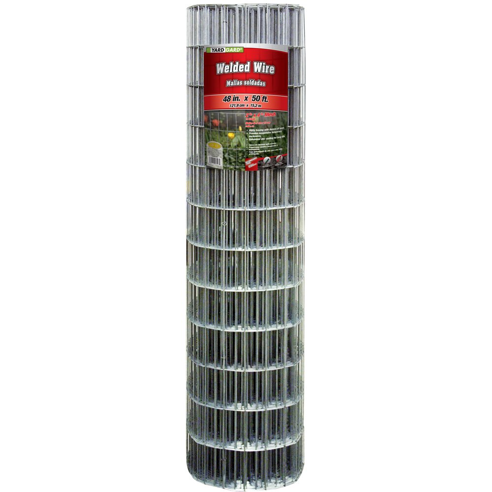 YARDGARD 308302B 2 Inch By 4 Inch Mesh, 48 Inch by 50 Foot Galvanized Welded Wire Fence