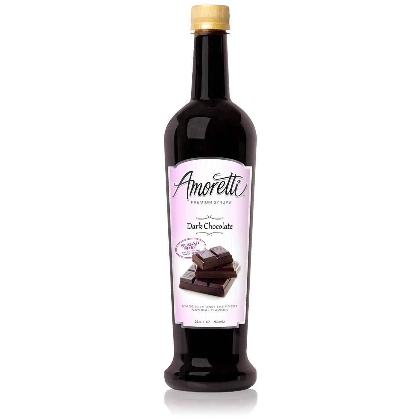 Amoretti Premium Sugar Free Flavoring, Dark Chocolate, 25.4 Ounce