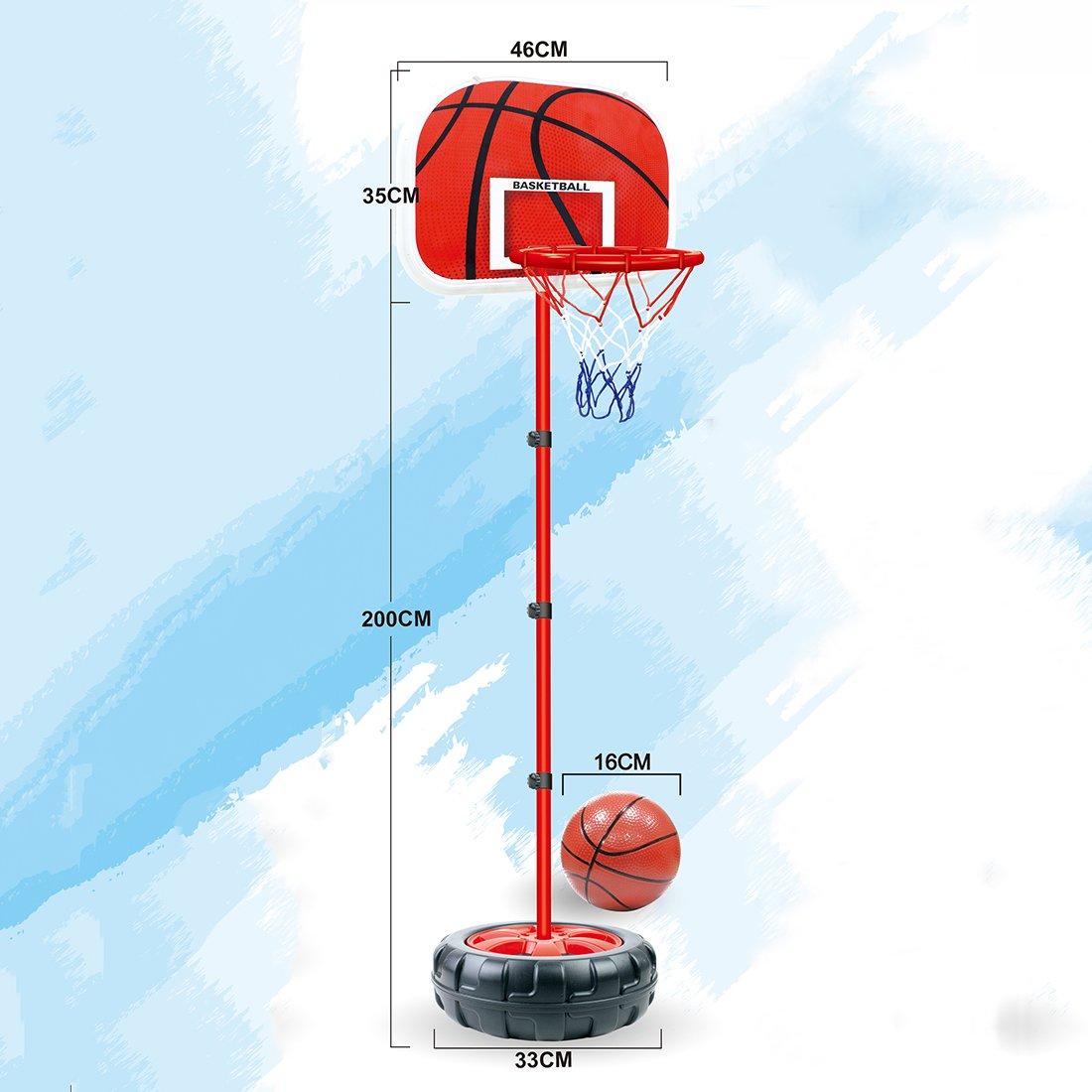 LDB SHOP Panier de Basket Enfant Hauteur R/églable Portable pour Enfants 83-200 Cm 3-10 Ans
