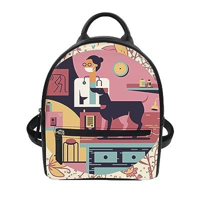 Coloranimal Womens Mini PU Leather Backpack Purse Cartoon Printing Backpacks