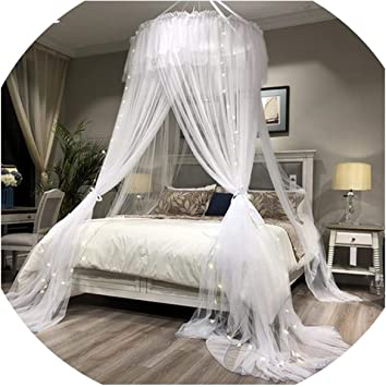 New Mosquito Net Round Lace Princess Style Netting Curtain Dome Bed Canopy