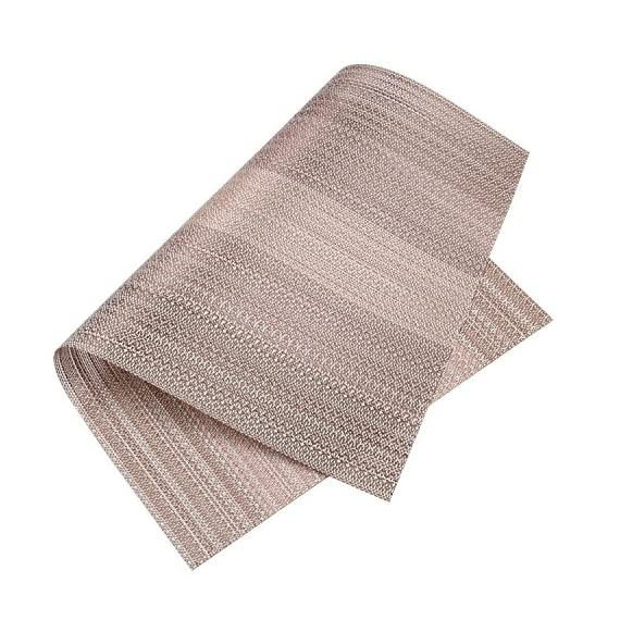 Homcomoda Vinyl Placemats for Dining Table Heat Insulation Place Mats Woven Washable Kitchen Table Mats Set of 6-(Coffee… -  - placemats, kitchen-dining-room-table-linens, kitchen-dining-room - 61YD0ea3SaL. SS570  -