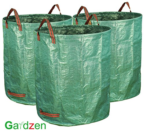 llons Garden Bag - Reuseable Heavy Duty Gardening Bags, Lawn Pool Garden Leaf Waste Bag (Lawn Leaf Bags)