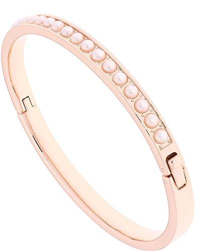 hot sales order online cozy fresh Ted Baker Rose Gold Pearl Clemara Hinge Crystal Bracelet - ROSE ...