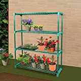 2 Units of 4-Tier Greenhouse Shelving Staging Plant Shelf Extra Large Portable For Sale