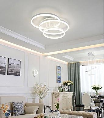 75W LED Art Lámpara de techo Blanco Iluminación de techo ...